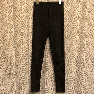 Topshop Joni High Waist Black Skinny Jean
